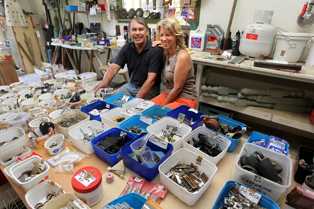 Sell-off: Dick and Mary Marks have been holding a 'garage' sale since November, with most of their worldly possessions for sale at their Wakamarina RdntsTnte in Canvastown. They are preparing to move to Australia.