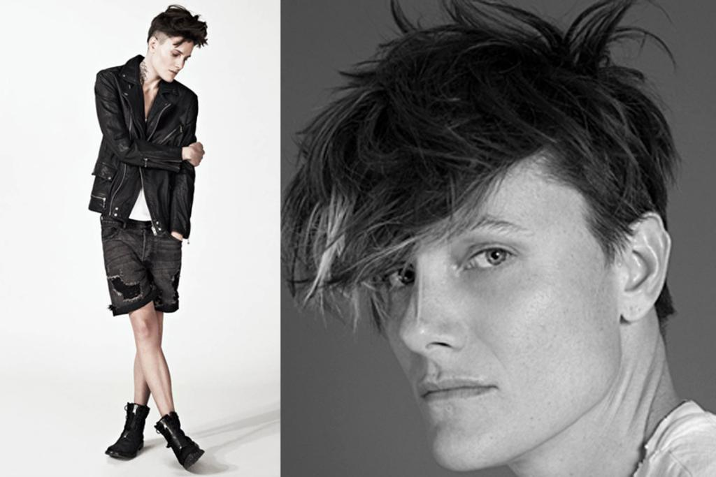 """Casey Legler, a handsome 6'2"""" former-Olympian, models in male jobs but identifies as a woman."""
