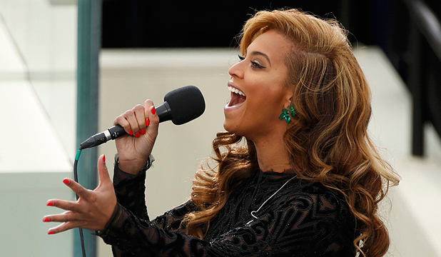 NOT LIVE: Beyoncé lip-synced the national anthem at President Barack Obama's inauguration.