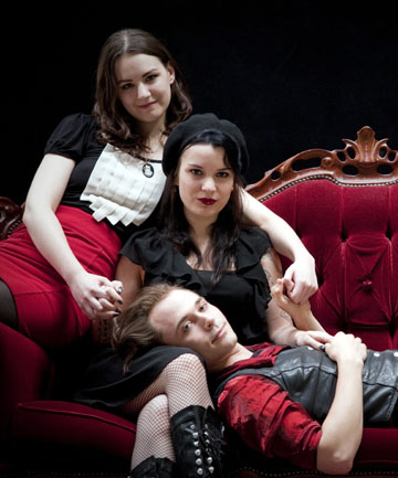"TRIPLE PLAY: Both Natalie (at left) and Kitty sleep with Chris, but the two women ""are not really into each other""."