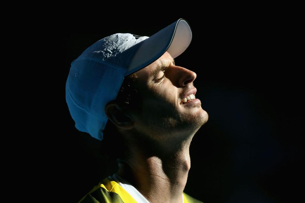 Andy Murray during his match against Jeremy Chardy.