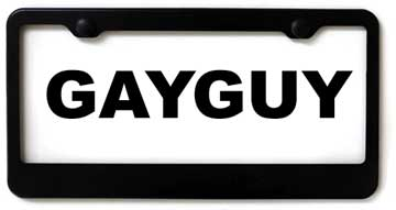 GayGuy rejected number plate.