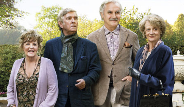 ENDEARING: From left, Pauline Collins, Tom Courtenay, Billy Connolly and Maggie Smith star in <I>Quartet.</I>