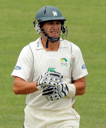GONE CHEAPLY: Ross Taylor was dismissed was caught behind for four in his comeback for CD.