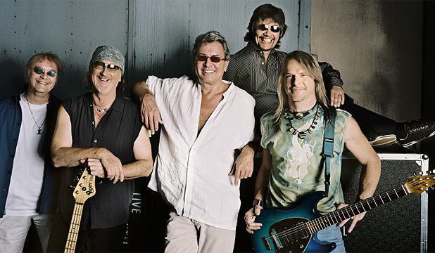 DEEP PURPLE: Left to right: Ian Paice, Roger Glover, Ian Gillan, Don Airey and Steve Morse with guitar.