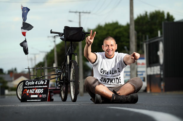 Cycle 4 Life 2: Karlyn Connolly is off to cycle around New Zealand  for the second time to raise awareness for child charities.