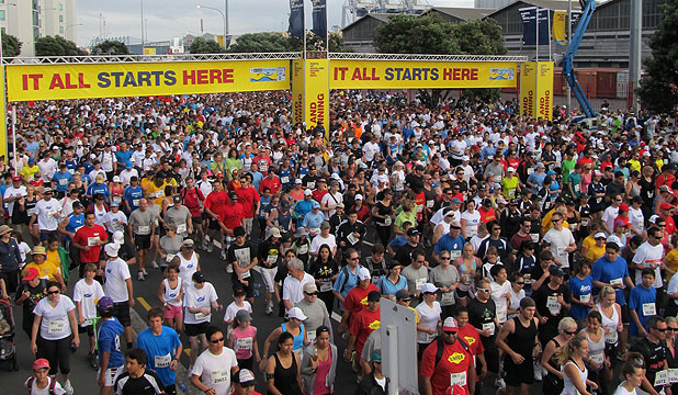 GET GOING: Start training  to get to the Ports of Auckland Round the Bays start line.