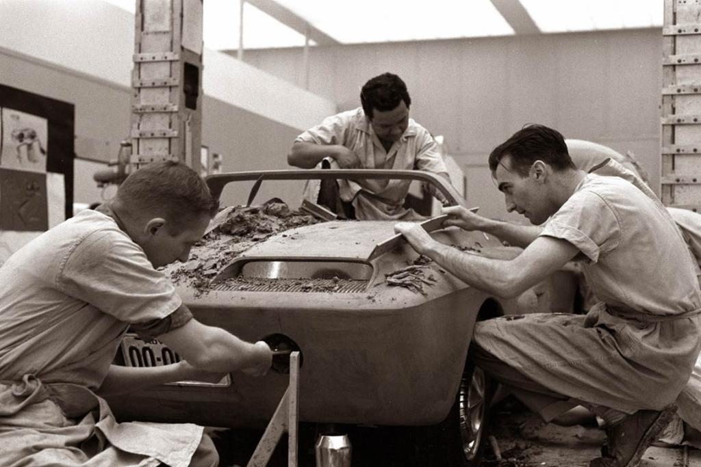 Sculpting team: Several clays were rendered as part of a design competition for the car.