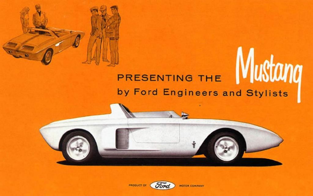 Presenting the Mustang: A promotional flyer of the time.