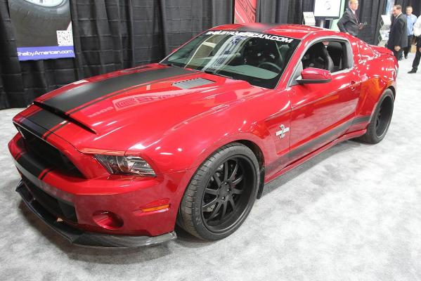 The Shelby Mustang GT500 Super Snake Widebody on show at the 2013 Detroit Auto Show.