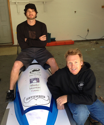 KIWI CREW: Jonathan Reid, left, and Martin White make up the two man New Zealand bobsled team vying for the Winter Olympics 2014.