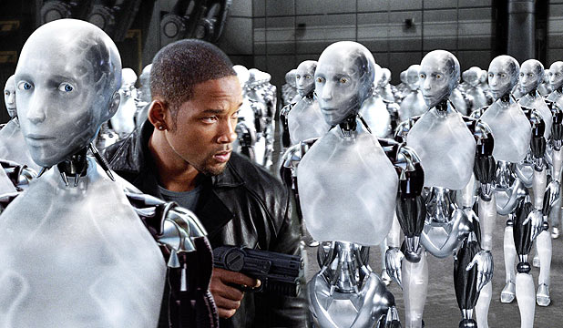 BRINGING HOME THE RAM: Will Smith in 2004's I, Robot.