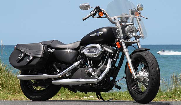 HARLEY-DAVIDSON XL1200CB: Smaller, lighter, and most of all stubbier in the wheelbase than the models that share floor space with it.