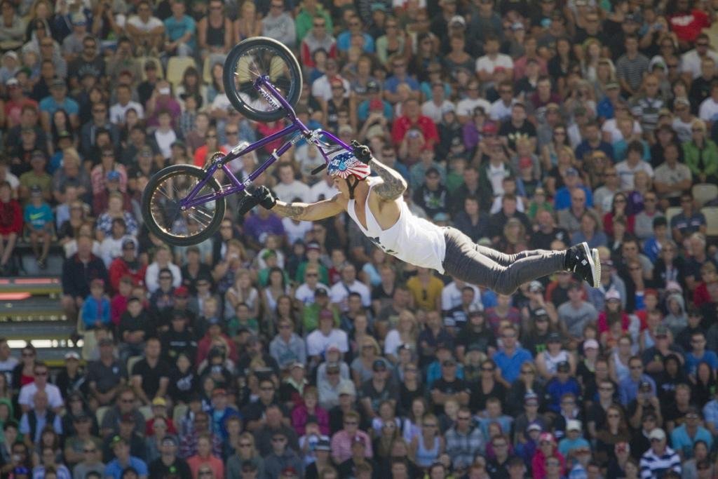 Matt Whyatt during a performance by the Nitro Circus.