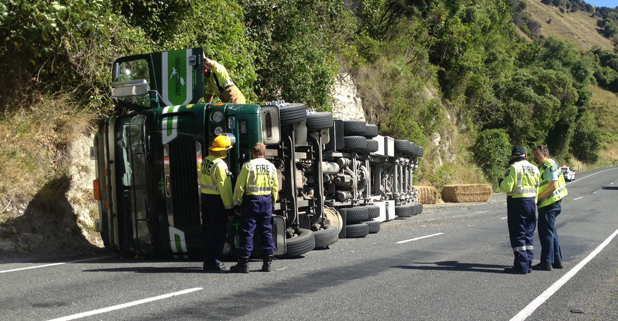 Truck rolled