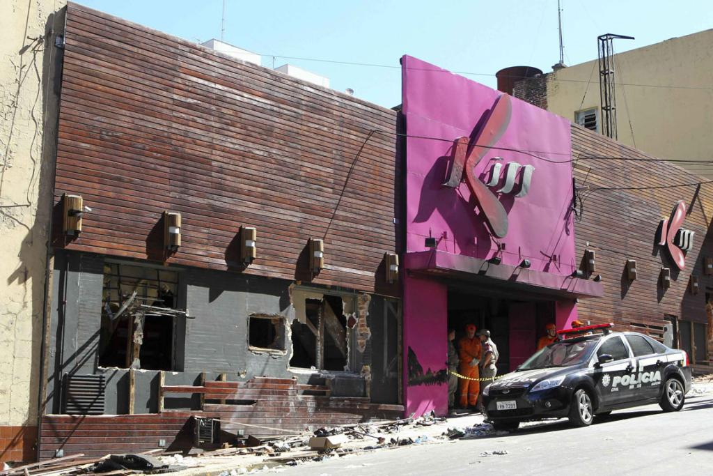 The Boate Kiss nightclub after the fire.