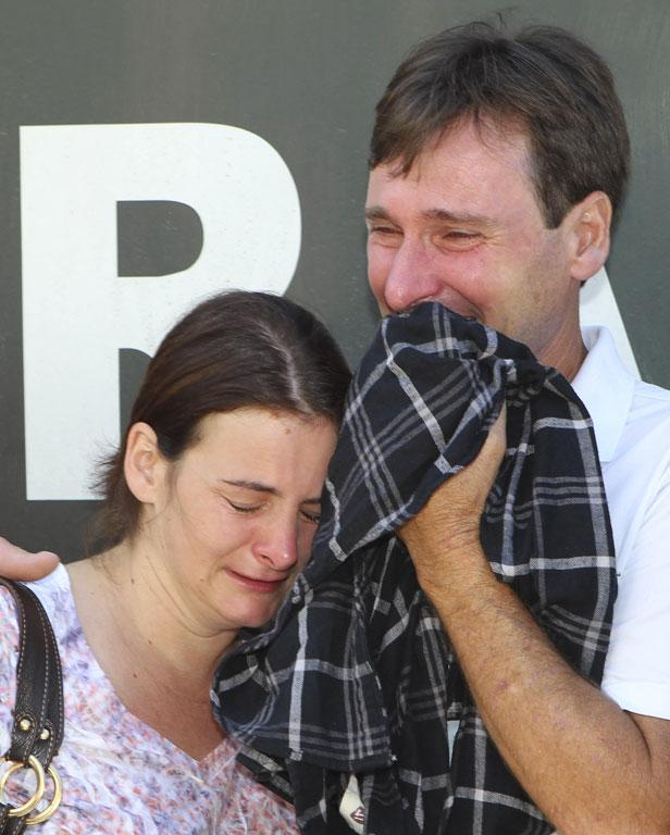 Relatives of victims of the fire.