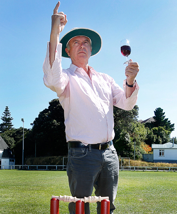 HOWZAT VINTAGE?: The Pinot Noir conference kicks off with a cricket match umpired by Sam Neill.