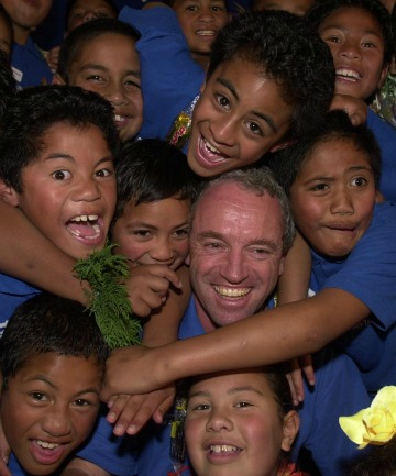 Former Invercargill man Scott Gilmour with some of the Auckland students whose lives he's been able to turn around.