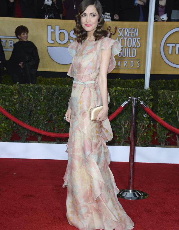 Australian actress Rose Byrne on the red carpet at the SAG Awards.