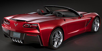Chevrolet Corvette C7 Convertible should look something like this.