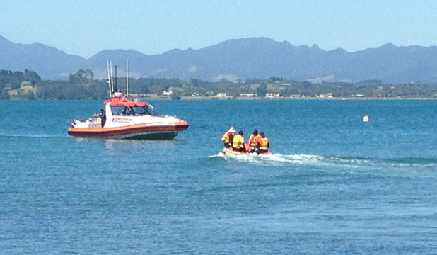 LOST: Searchers are looking for a man thrown overboard when his boat capsized north of Tauranga last night.