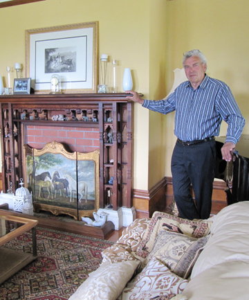 A PASSION: Castle Claremont owner Rob Young in one of the lounges.
