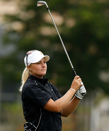 FOCUSED: Anna Nordqvist, of Sweden hopes to win the New Zealand Women's Open next week.
