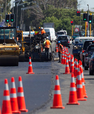 SLOW GOING: Roadworks being carried out in Rangitikei St