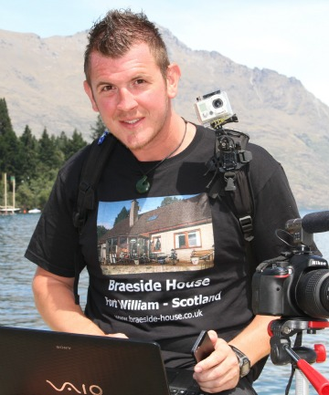 Barry-Dean Dewson will have little more than his camera, laptop, mobile phone and backpack when he sets off next month.