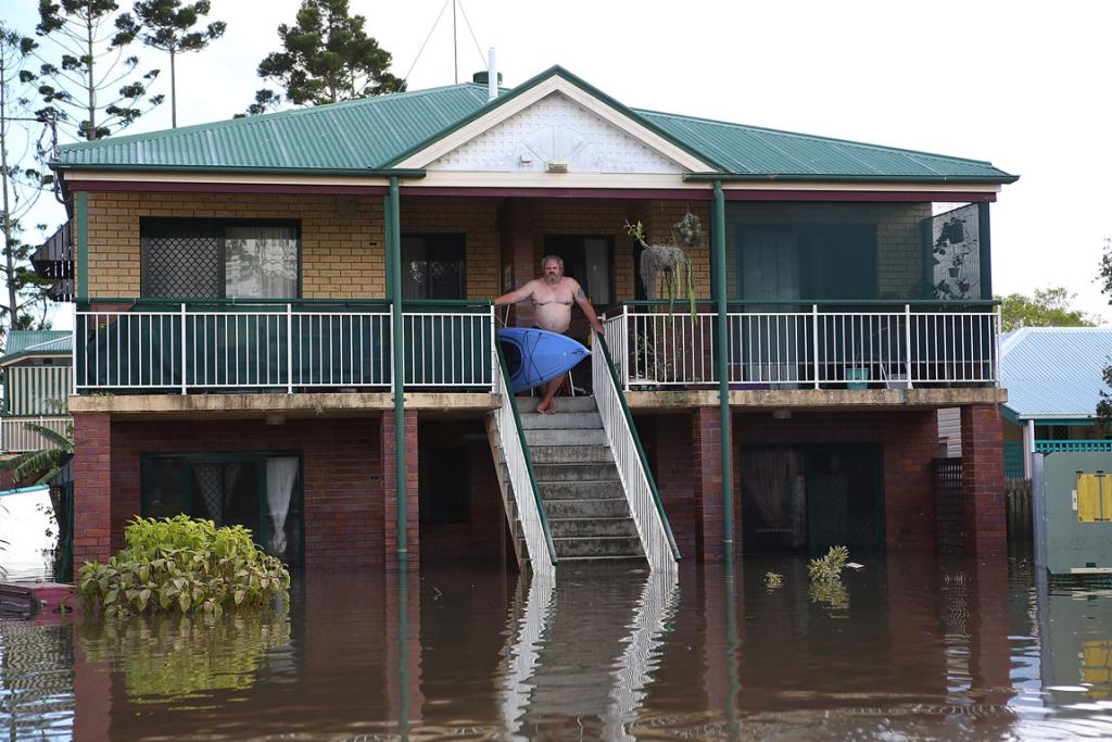 Much of Bundaberg was left underwater after the storms.