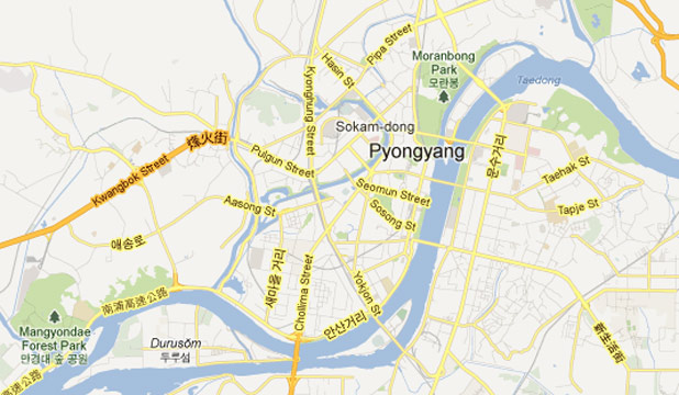 North Korea google maps