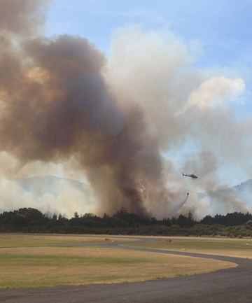 FIRE BAN: Dry conditions and the scrub fire that consumed 116ha of land on Great Barrier Island near Claris have prompted Auckland Council to put a total fire ban across the region until further notice.