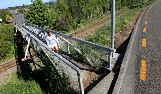 OUT OF ORDER: Work on Dannevirke's closed Christian St footbridge is set to start immediately after KiwiRail handed over ownership to the Tararua District Council.