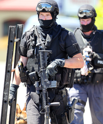 TENSE SITUATION: A man was taken into custody after an armed offenders alert.