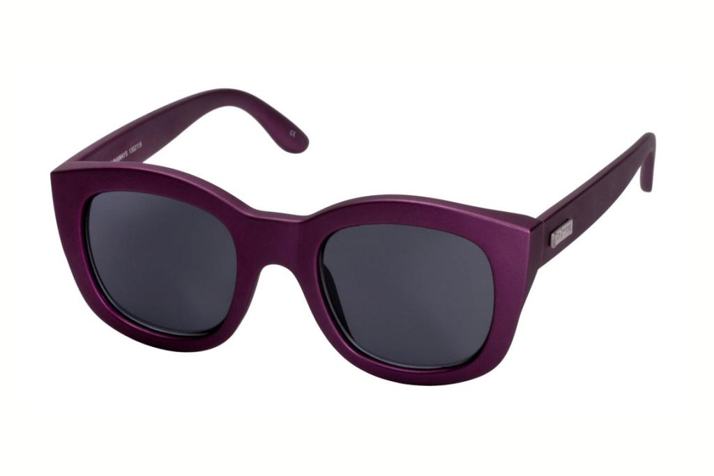 """Le Specs Runaways sunglasses, $69.95: """"The latest Le Specs collection is an intergalactic themed selection of steely greys, deep purples and funky reflecto shades. I love the eggplant hue of this Runaway style!"""""""