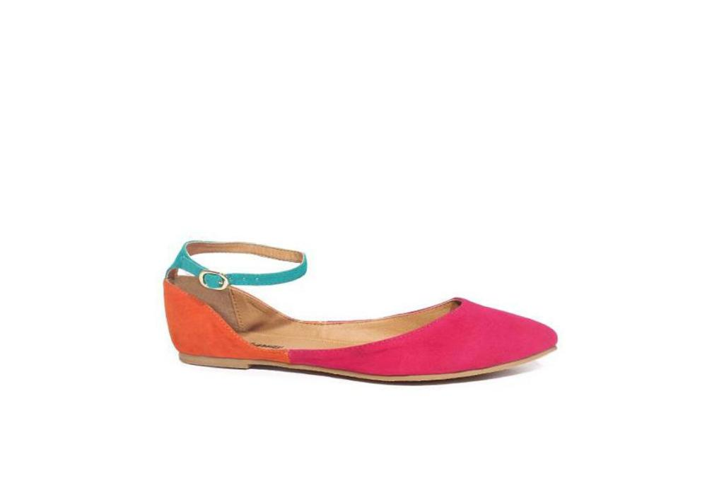 """Citrus flats, $34.99 from Number One Shoes: """"While we're on the bright and cheerful vibe, I had to show you these. If you're a bit too shy to wear summer's fuchsia trend on your bod, try it on your toes."""""""