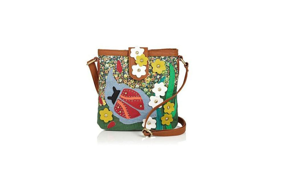 """Next bag, $58 from Ezibuy: """"For the crafty folk and the eclectic-inspired, let this ladybug bag brighten up your outfits. Fashion says that collage and craft is in this season. Listen up."""""""