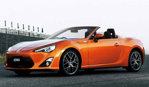 Computer-generated illustration of how a convertible Toyota 86 may look.