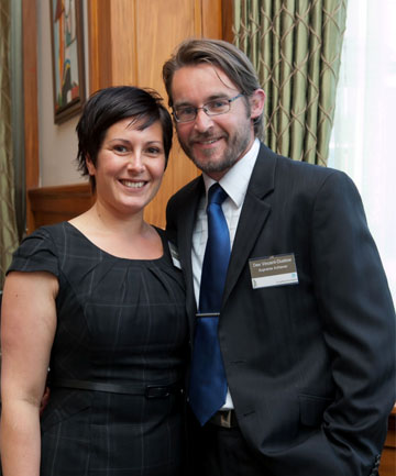 Des Vincent-Dustow with wife Kylie.