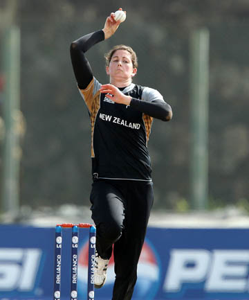 GOOD DILEMMA: New Zealand's team management has to decide which of the White Ferns' successful bowlers is left out of the team to play in today's final women's World Cup pool match, against Australia, in India.