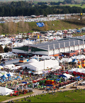 FILLING UP: It's nearly full house at Mystery Creek Events Centre for the National Fieldays in June.