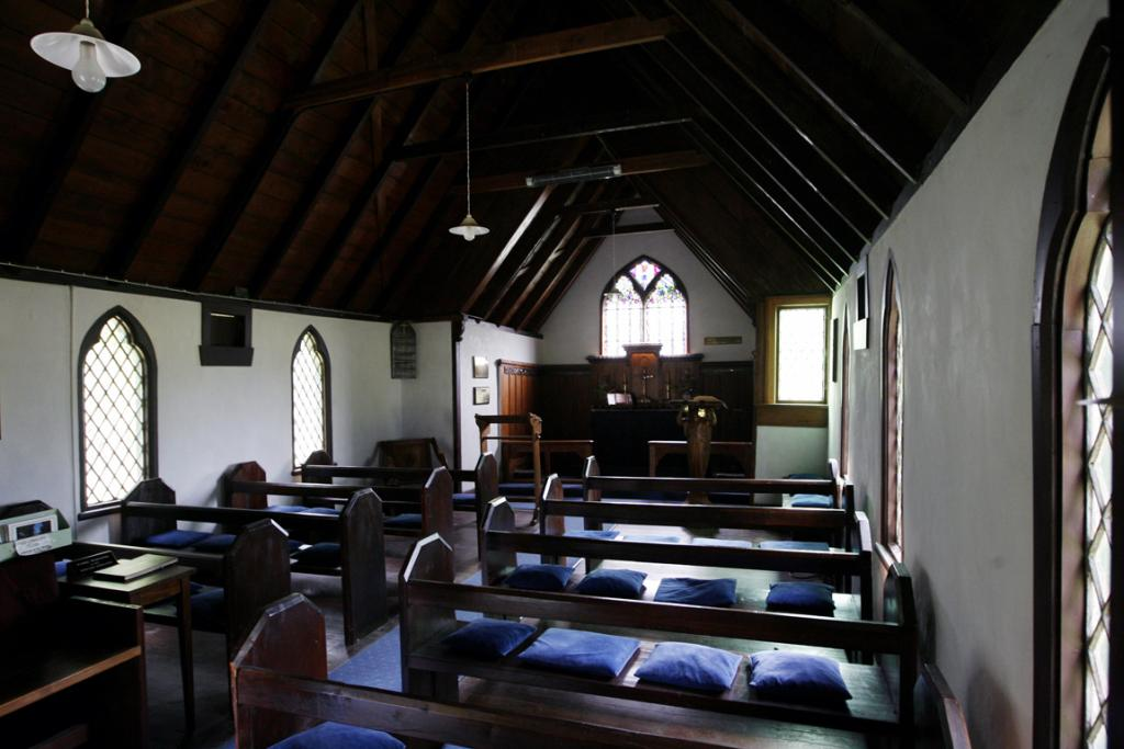 PEEK INSIDE: The interior of St Anne's Church, Pleasant Valley, which was built in 1863.