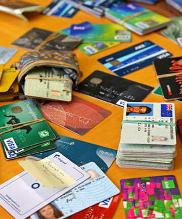 MANY A SLIP: Cash, cards and wallets recovered from Westpac Stadium following the Wellington Sevens.