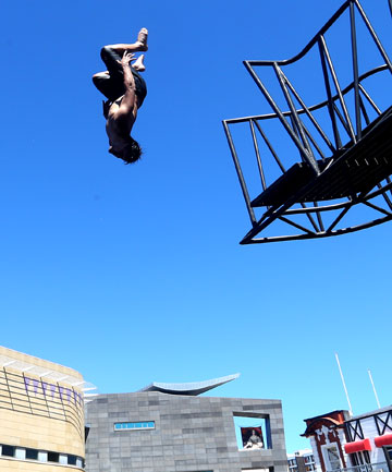 The diving platform on Wellington's waterfront has raised concerns about safety and water quality