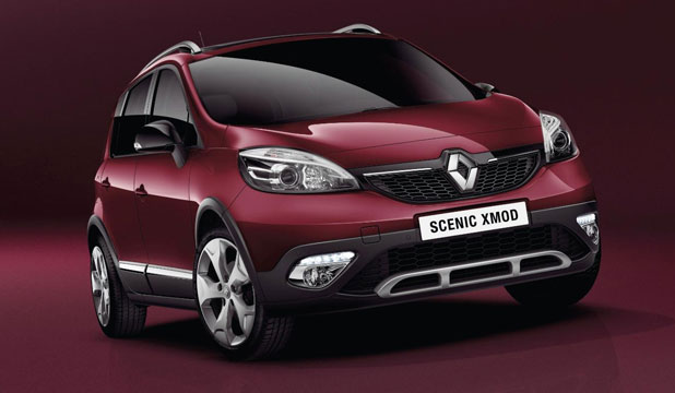Renault is unveiling a new 'crossover' MPV, the Scenic XMOD.