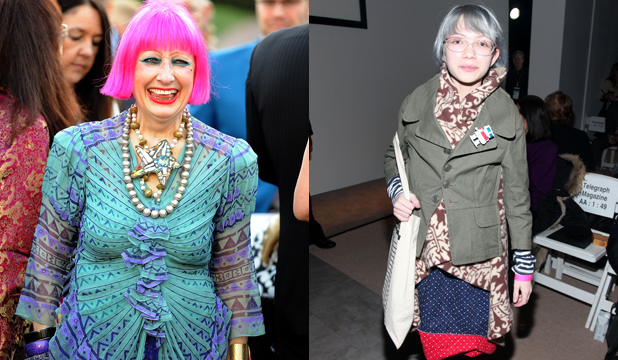 DRESS TO IMPRESS, YOURSELF: Brit designer Zandra Rhodes looks glowing and youthful at 72, while magazine editor and 16-year-old prodigy Tavi Gevinson rocked granny chic when she was 12.