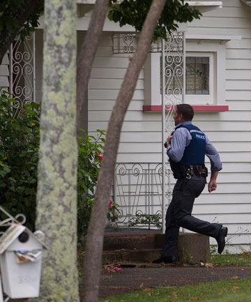 FOUND: Wanted man hiding underneath a Russell St rental property was found by police this morning.