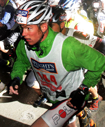 """IN SUPPORT: Dougal Allan, pictured starting the Coast to Coast in 2010, says he has """"huge respect"""" for his rival Richard Ussher coming forward and criticising Robin Judkins' multisport event."""