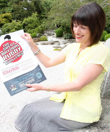 Invercargill City Council communications manager Eirwen Harris, at the Japanese Gardens in Queens Park, is urging city residents to enjoy free public events on February 15, including a rugby match, to mark the 20th anniversary celebrations of the Invercargill-Kumagaya sister-city relationship